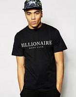 Мужская спортивная футболка с принтом черная