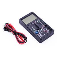 Мультиметр цифровой DT700B, большой LCD дисплей, прозвонка цепи со звуком, щупы в комплекте