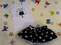 """Комплект футболка и юбочка для девочки """"Модное платьице""""  Garden Baby."""