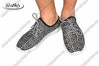 Мужские кроссовки черно-белые (Код: 112)