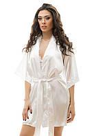 Пеньюар и халат белый, набор, размер универсал S-L