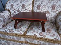 Раскладной столик для ноутбука и завтрака в кровать. Красное дерево.