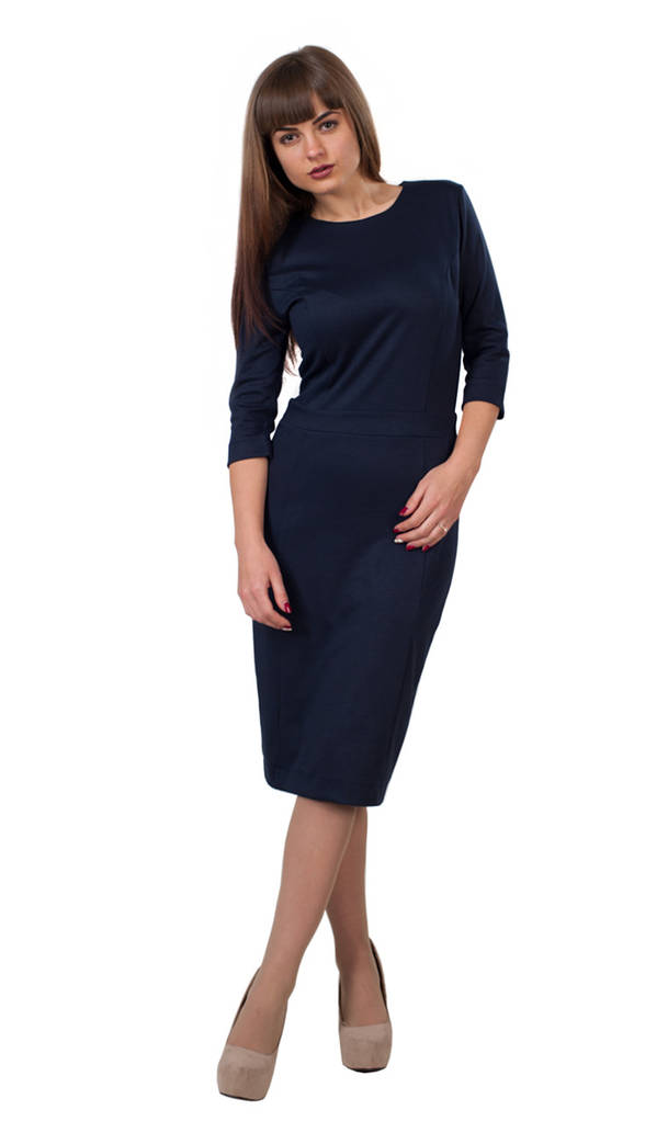 Платье Кэрри 0099_1 Тёмно-синее