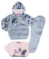 Спортивный костюм-тройка для девочки, S&D, размеры 1-5 лет, арт. CH-3555
