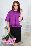 Стильная блуза свободного покроя в четырех расцветках 1029