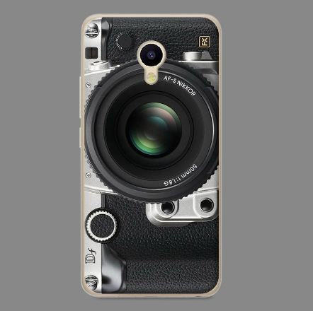 Силиконовый чехол бампер для Meizu M5 с картинкой Фотоаппарат