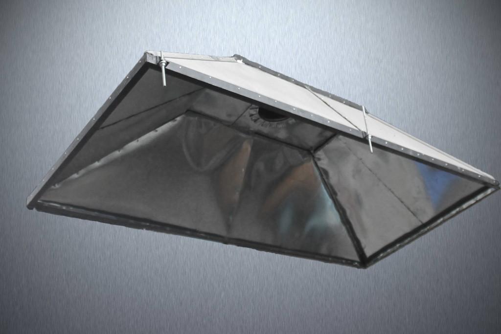 Зонт витяжний 1*2*0,5 м з оцинкованої сталі