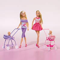 Кукла Штеффи и коляска с малышом, 2 вида (5733067) - цена за 1 ед., фото 1