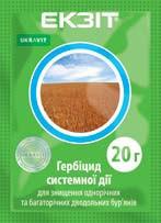 Гербіцид Екзит / Екзіт (Ларен Про 60), Укравіт; метсульфурон-метил 600 г/кг, пшениця, ячмінь