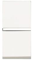 ABB Zenit Механизм Выключателя одноклавишный проходной (1 модуль) белый