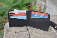 Мужской бумажник классика компакт 3011 (Черный)