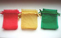 Упаковка подарочная, однотонные мешочки из органзы 7см х 9см