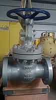 Засувка лита сталева фланцева 31с45нж Ду100 Ру160 з висувним шпинделем