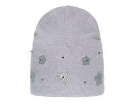 Удобная стильная весенняя шапочка с цветочным узором и бусинками, Польша
