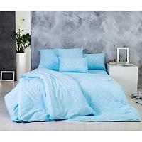 Ткань для постельного белья, поплин (хлопок) Чудо голубое