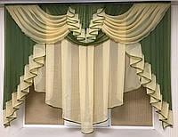 """Тюль ,Занавеска-ламбрекен """"Милена"""" на небольшое окно .Ширина 2м .Разных цветов"""