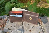 Мужской бумажник классика компакт 3014 (Коричневый)