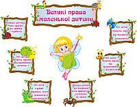 """Комплект стендов для детского сада о правах ребенка """"Фея"""""""