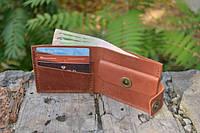 Мужской бумажник классика компакт 3015 (Коньячный)