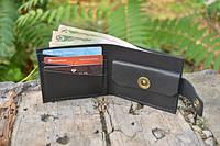Мужской бумажник классика компакт 3016 (Черный)