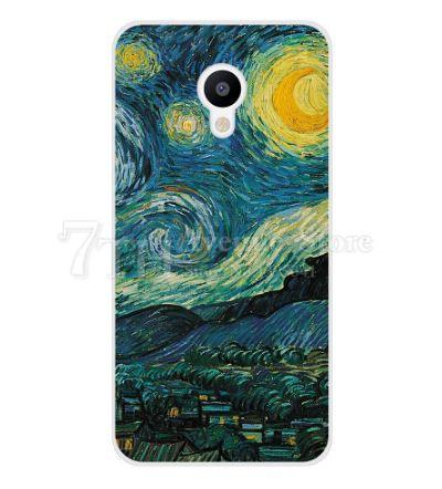 Оригинальный чехол накладка для Meizu M5 с картинкой Лунная ночь