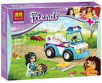 "Конструктор Bela Friends 10534 ""Ветеринарная скорая помощь"" (аналог LEGO Friends 41086), 96 дет​алей"
