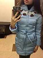 Весенняя куртка с вышивкой «Цветы»