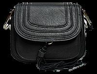 Привлекательная женская сумка из искусственной кожи черного цвета WFY-004775