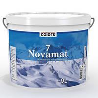 Моющаяся шелковисто-матовая краска  для стен Novamat 7
