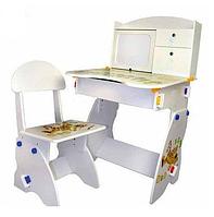 Регулируемая детская парта Bambi W 072 белая