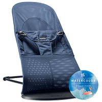 Кресло-шезлонг BABYBJORN Balance soft, Great blue whale, Mesh