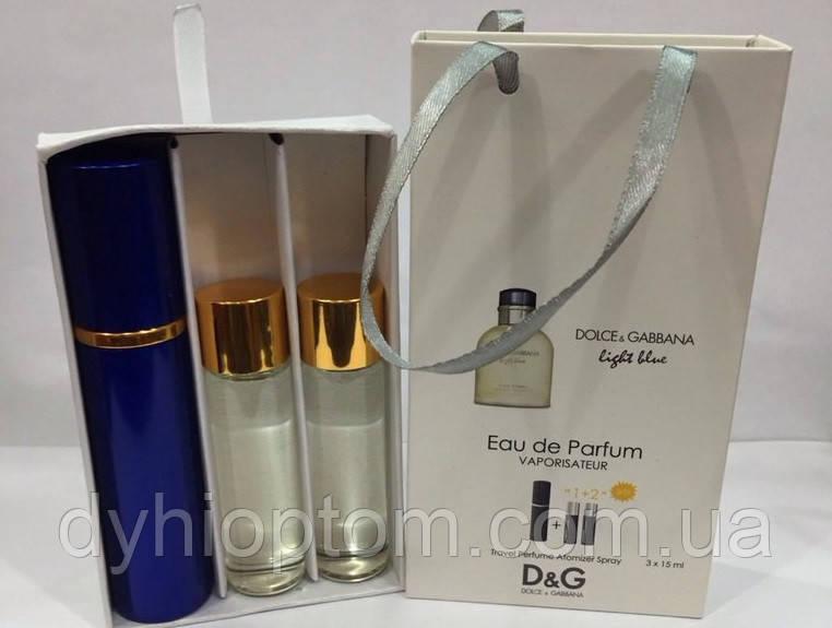 Мини парфюмерия 45ml Dolce & Gabbana Light blue Men оптом