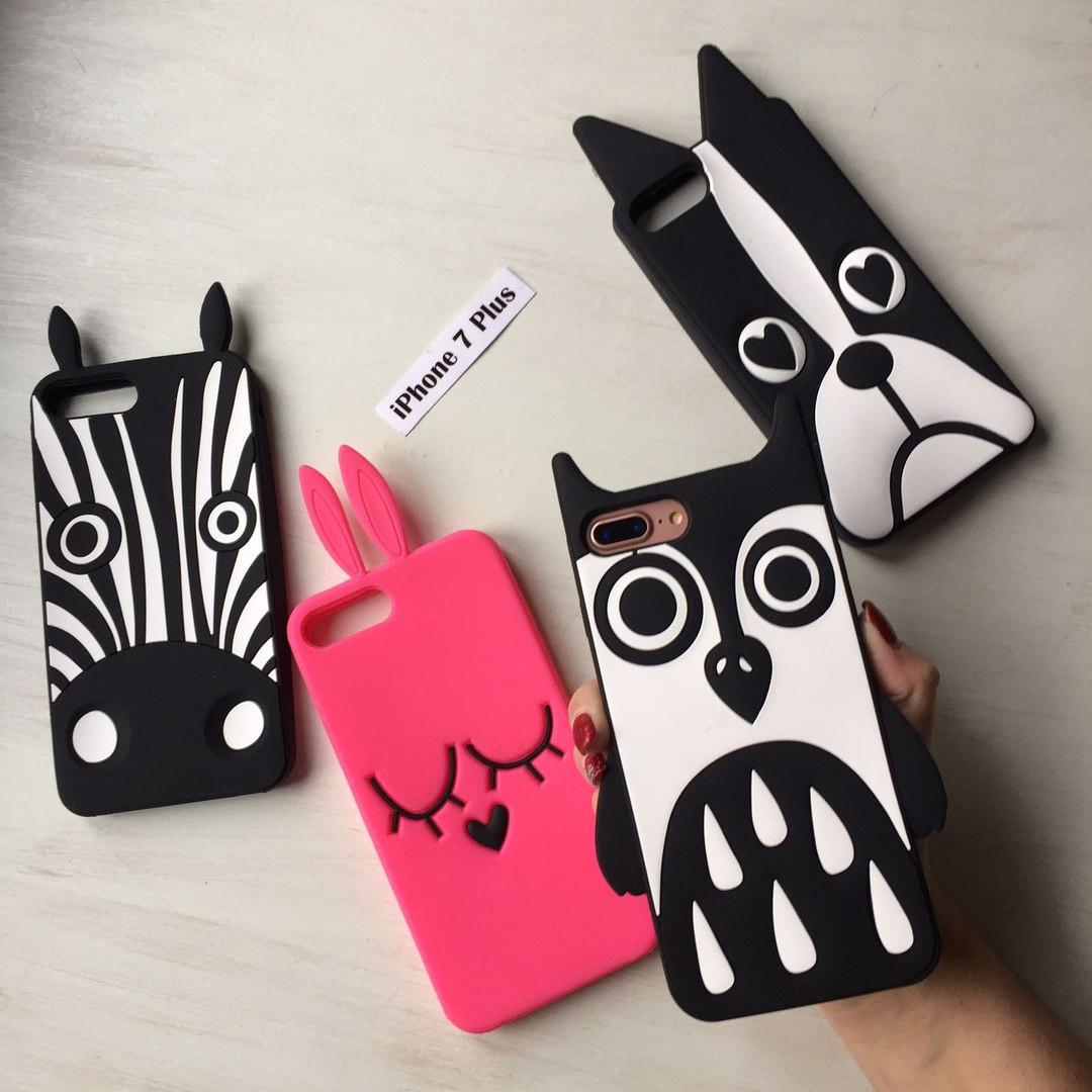 Силиконовые животные Marc Jacobs для iPhone 7 Plus