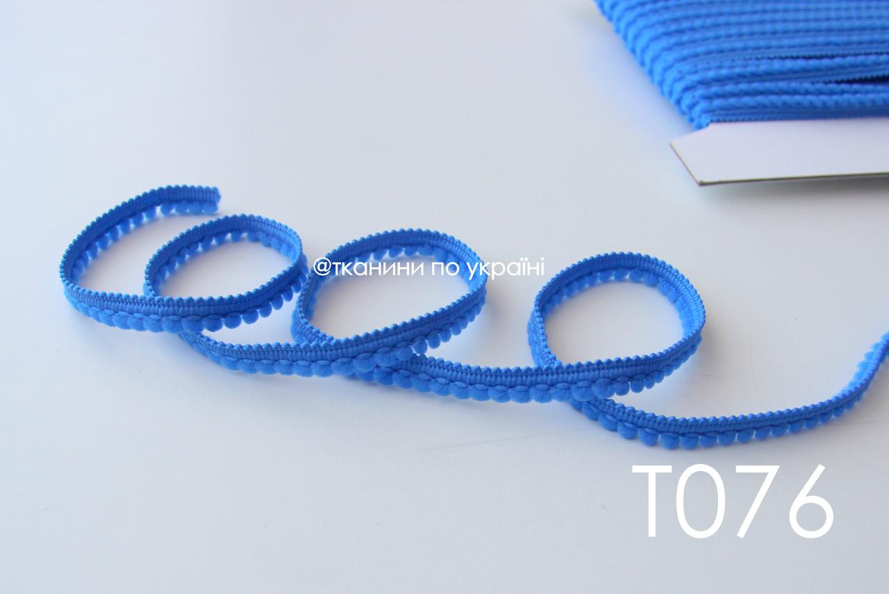 Тесьма со вставками синяя 9 мм (Т076)