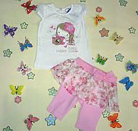 """Комплект футболка и юбка-лосины для девочки """"Цветочная коллекция"""""""