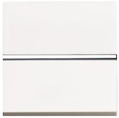 ABB Zenit Механизм Выключателя одноклавишный проходной (2-х модульный) белый