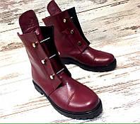 Ботинки стильные демисезонные кожаные Hermes на низком ходу Uk0409