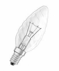 Лампа ЛЗП Volta/Искра ВF35 230B 40Вт Е14 свечка витая, фото 2