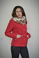 Демисезонная курточка на синтепоне красного цвета