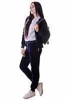 Велюровый костюм на молнии скапюшоном