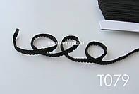 Тесьма со вставками черная 9 мм (Т079), фото 1