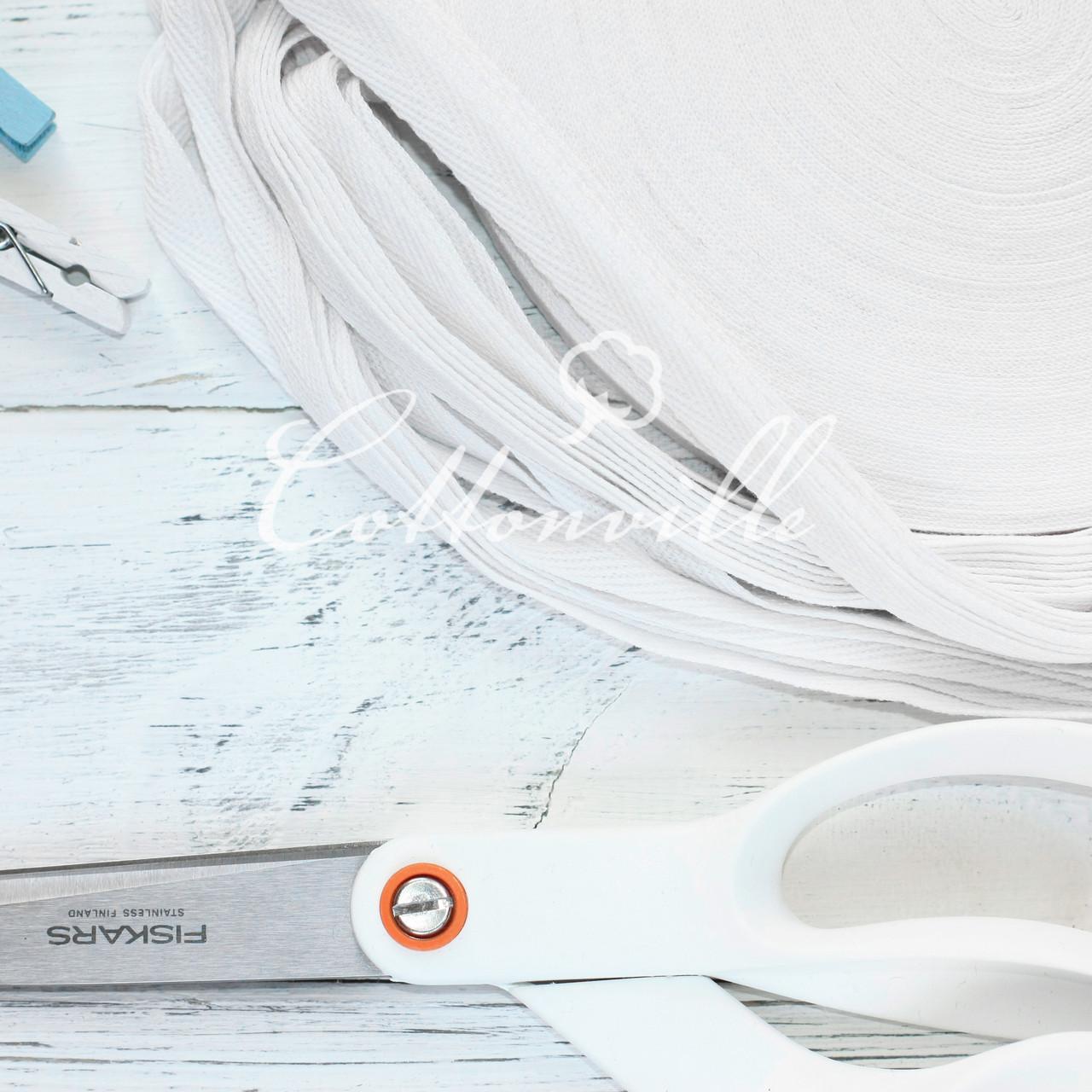 Хлопковая киперная тесьма белая (10 мм)