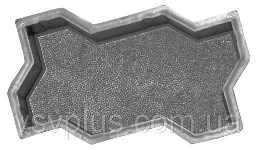 Фігурні форми для тротуарної плитки Змійка (гладка, шагрень) 240х169х60 Верес 1 шт