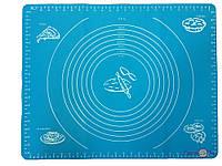 Силиконовый коврик для раскатки теста и выпечки 40*50 см