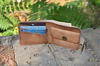Мужской бумажник классика компакт 3017 (Бежевый Италия)