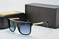 Солнцезащитные очки квадратные Louis Vuiiton черный глянец
