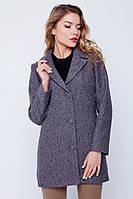 """Пальто-пиджак """"Лорен"""" серо-розовое"""