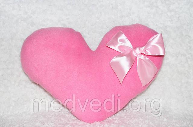 Розовая подушка-сердце