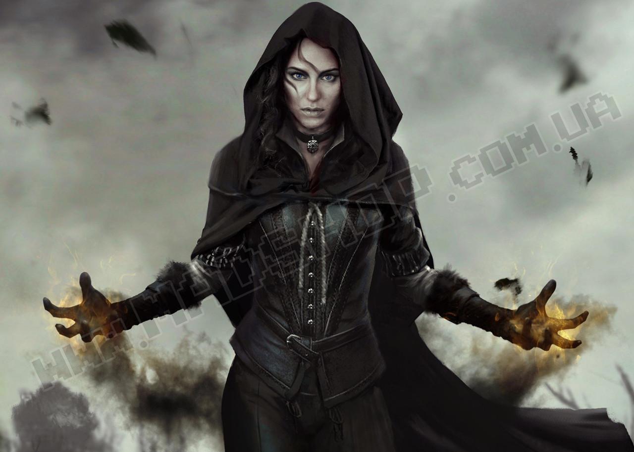 Картина 60х40см Ведьмак Ведьма