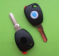Dacia - заготовка ключа под чип, DAC4DP